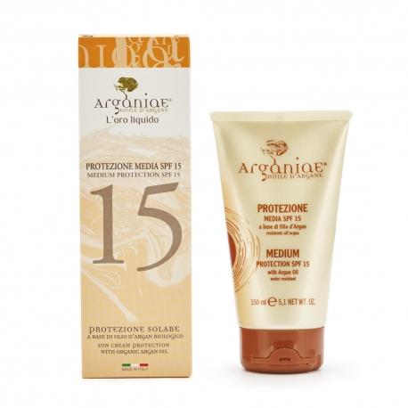 Medium Protection SPF15 Sun Cream 150 ml - Arganiae