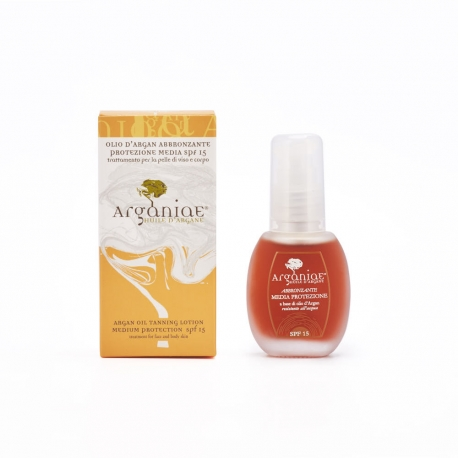 Medium Protection SPF15 Tanning Oil - Arganiae