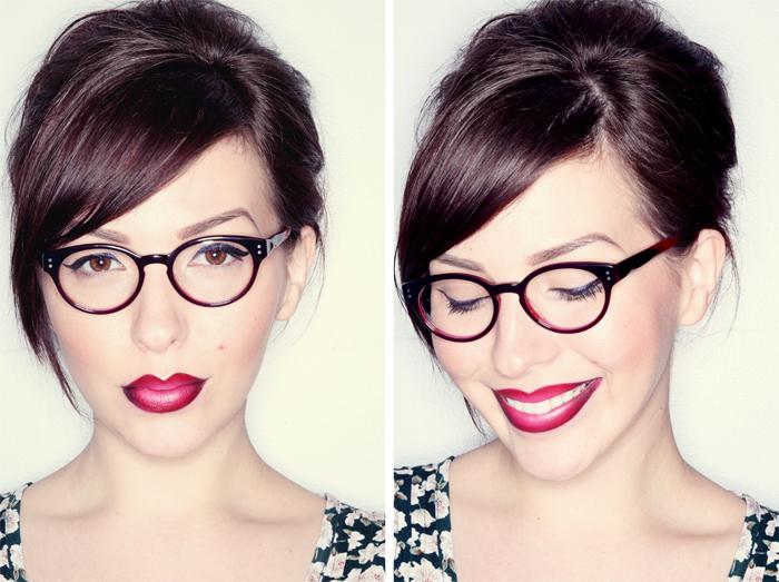 bellezza con gli occhiali
