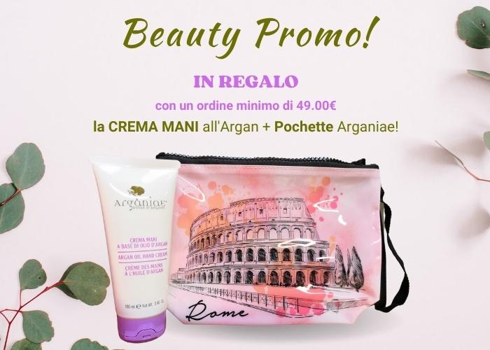 Beauty Promo Arganiae: pochette più crema mani con un ordine minimo di 49€