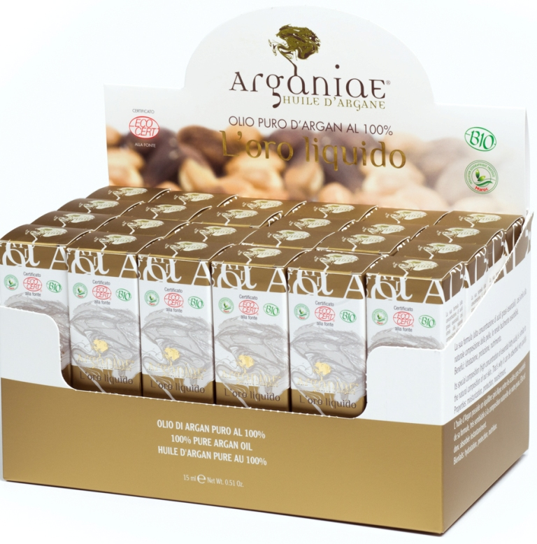 box da banco 24 pezzi olio argan 15 ml