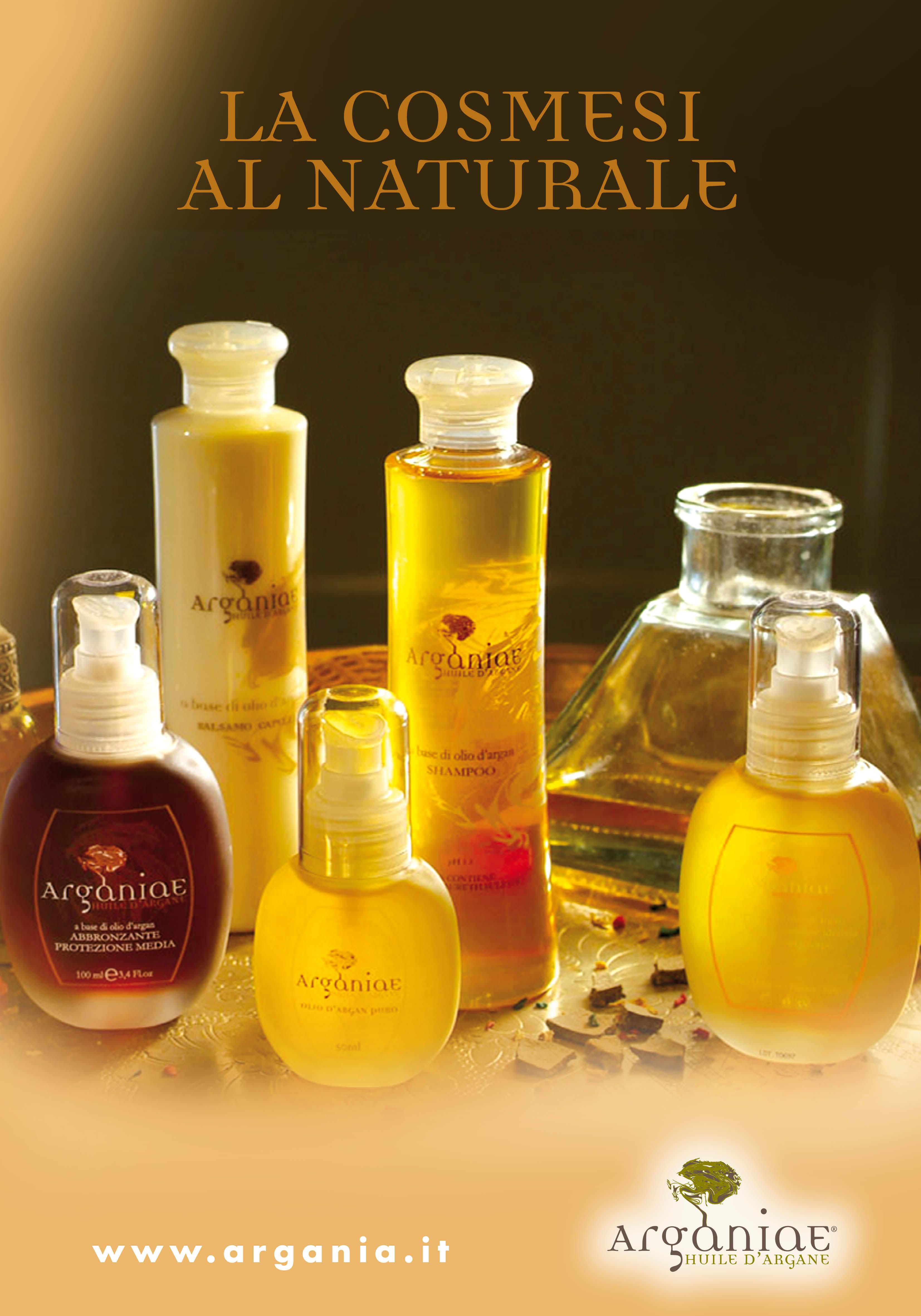 guida all'uso dei prodotti all'olio d'argan della linea Arganiae