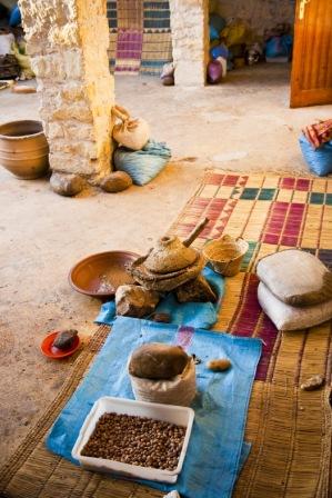 lavorazione olio argan artigianale e locale come 1000 anni fa