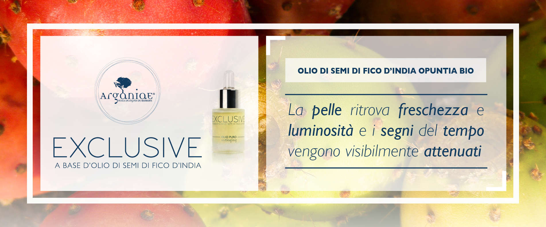 Argania Exclusive a base d'olio di Semi di Fico D'india Bio